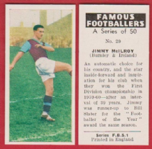 Burnley Jimmy McIlroy Northern Ireland